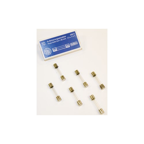 6,3X32mm 1,0A Glassikring 10pk